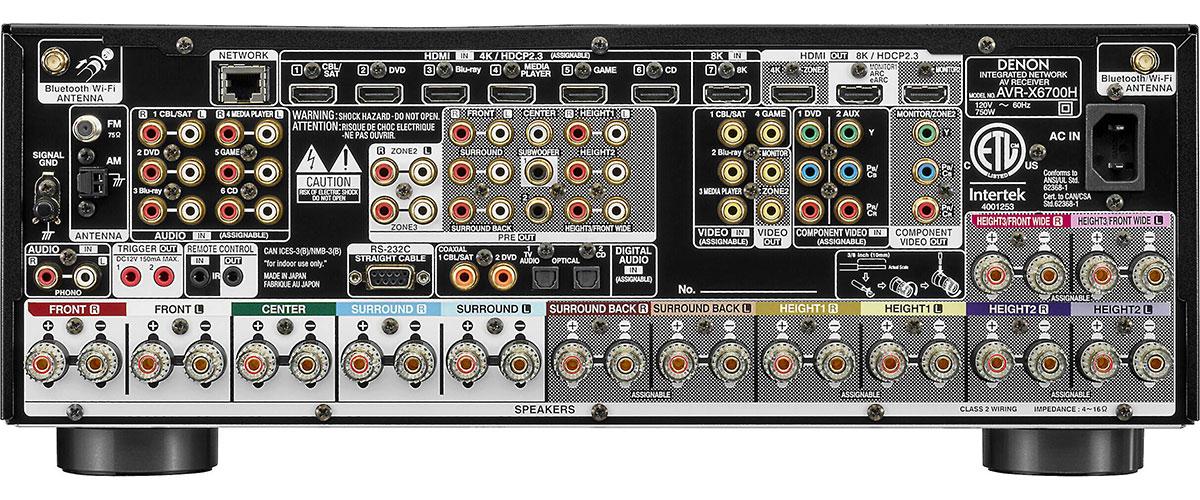 Denon AVC-X6700H Rückansicht