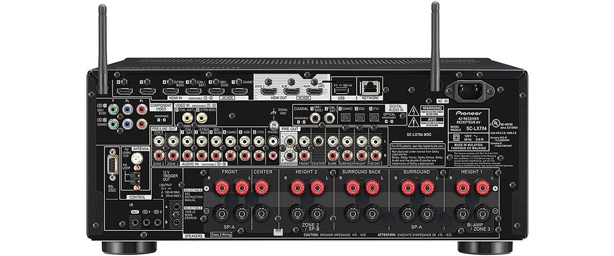 Pioneer SC-LX704 Rückansicht