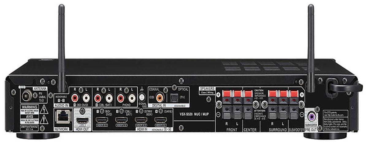Pioneer VSX-S520 Rückansicht