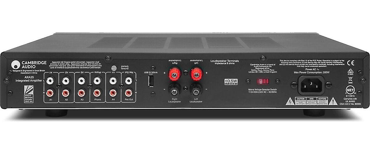Cambridge Audio AXA35 Rückansicht