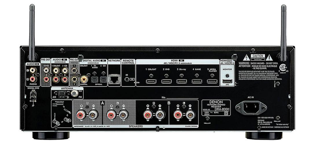 Denon DRA-800H Rückansicht