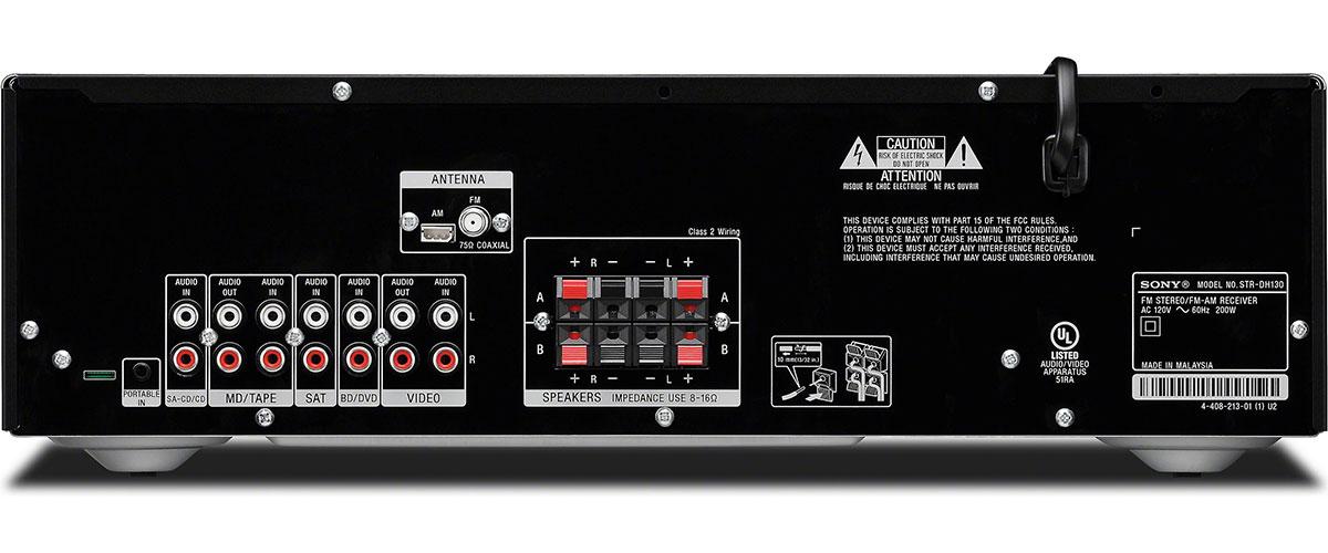 Sony STR-DH130 Rückansicht