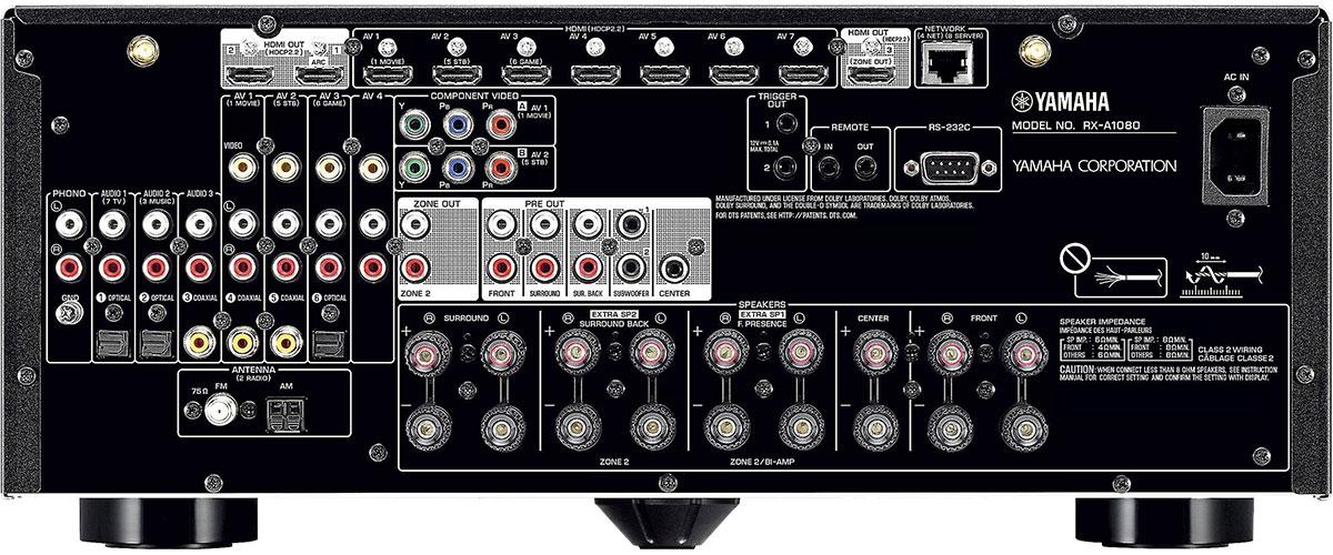 Yamaha RX-A1080 Rückansicht