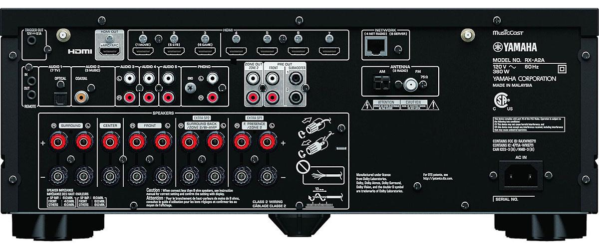 Yamaha RX-A2A Rückansicht